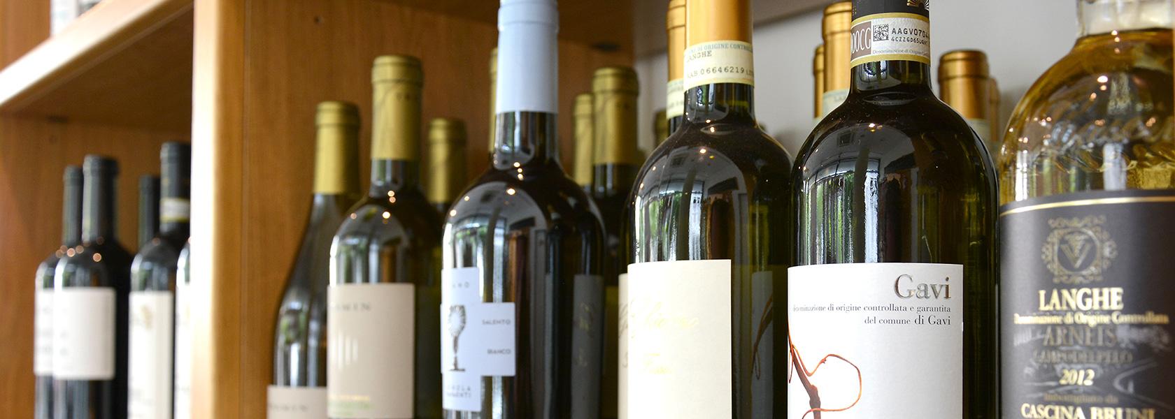 Ausgesuchtes Weinangebot